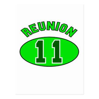 Reunion 2011 in Green Postcard