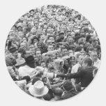 Reunión '63 de John F. Kennedy JFK Fort Worth Pegatina Redonda
