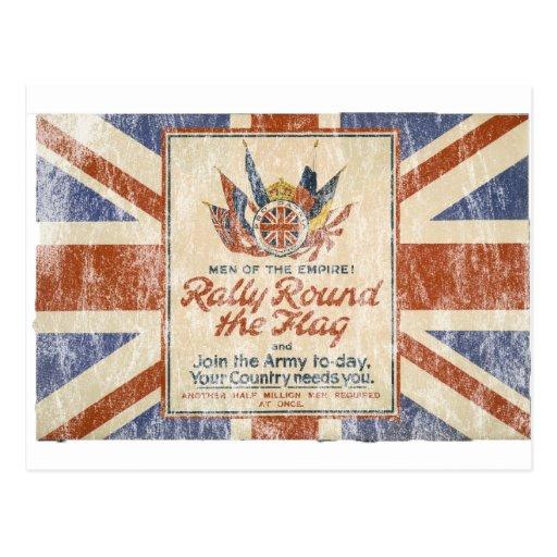 Reunión alrededor de la bandera tarjetas postales