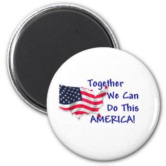 Reunión América Imán De Nevera