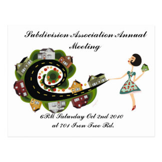 Reunión anual de la asociación de la subdivisión tarjetas postales