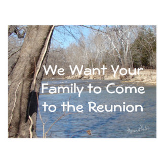 Reunion card-customize postcard