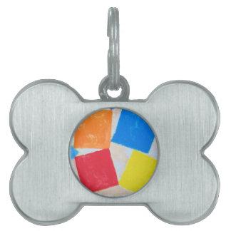 Reunión cuadrada (expresionismo geométrico) placa de nombre de mascota