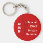 reunión de 50 años llaveros personalizados
