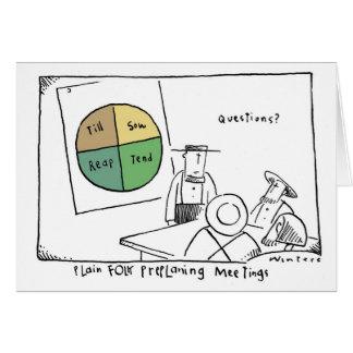 Reunión de Amish del gráfico de sectores Tarjeta De Felicitación