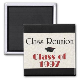 Reunión de antiguos alumnos 1997 imán cuadrado