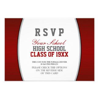 Reunión de antiguos alumnos adaptable RSVP Invitacion Personalizada