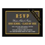 Reunión de antiguos alumnos formal con clase RSVP Invitación 8,9 X 12,7 Cm