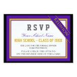 Reunión de antiguos alumnos formal con clase RSVP Invitación Personalizada