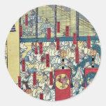 Reunión de dioses en Izumo por Utagawa, Sadahide Pegatina Redonda