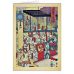 Reunión de dioses en Izumo por Utagawa, Sadahide Tarjetón