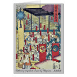Reunión de dioses en Izumo por Utagawa, Sadahide Tarjeton