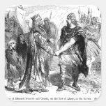 Reunión de Edmund Ironside y de Canute Pegatina Cuadrada