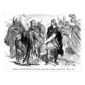Reunión de Edmund Ironside y de Canute Postal