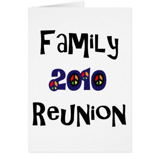 Reunión de familia 2010 tarjeta de felicitación