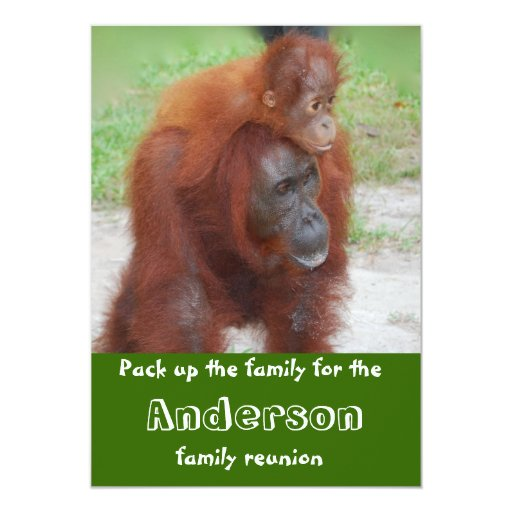 "Reunión de familia animal linda invitación 5"" x 7"""