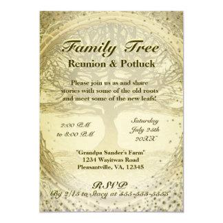 """Reunión de familia - árbol de familia del vintage invitación 5"""" x 7"""""""