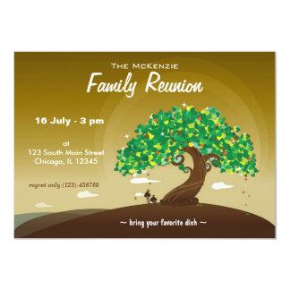 "Reunión de familia (Brown) Invitación 5"" X 7"""