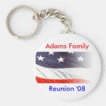 Reunión de familia de Adams Llavero Personalizado