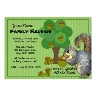 Reunión de familia de la ardilla comunicado personalizado
