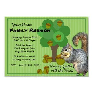 """Reunión de familia de la ardilla invitación 5"""" x 7"""""""