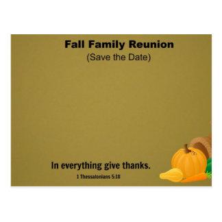 Reunión de familia de la caída: Ahorre la fecha Postal