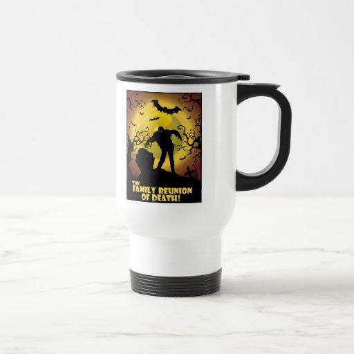 Reunión de familia de la muerte tazas de café