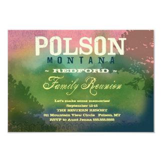 """Reunión de familia de POLSON MONTANA Invitación 3.5"""" X 5"""""""