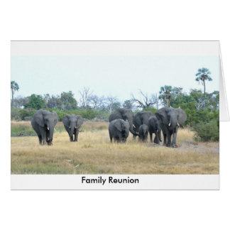 Reunión de familia del elefante Tom Wurl Tarjeta De Felicitación