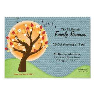 """Reunión de familia del otoño invitación 5"""" x 7"""""""