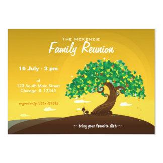 "Reunión de familia (naranja) invitación 5"" x 7"""