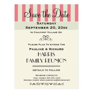 Reunión de familia o reserva poner crema del rosa tarjeta postal
