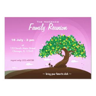 """Reunión de familia (púrpura) invitación 5"""" x 7"""""""