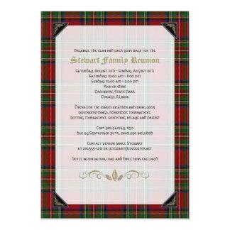 """Reunión de familia real escocesa del tartán de invitación 5"""" x 7"""""""