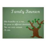 Reunión de familia tarjeta postal