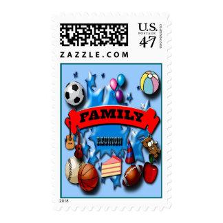 Reunión de familia timbre postal