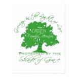 Reunión de familia verde 2010 tarjeta postal