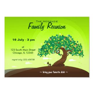 """Reunión de familia (verde) invitación 5"""" x 7"""""""