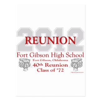 Reunión de Gibson 40.o del fuerte Postales