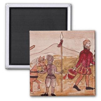 Reunión de Hernando Cortes y de Montezuma Iman