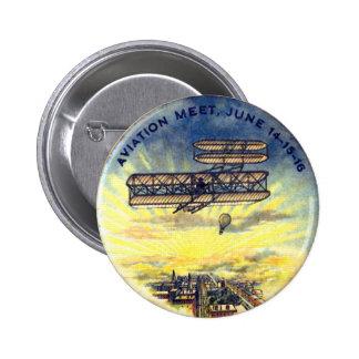 Reunión de la aviación - botón pins