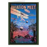 Reunión de la aviación del vintage en el poster de felicitacion