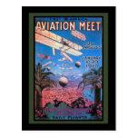 Reunión de la aviación del vintage en el poster de tarjeta postal
