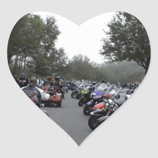 Reunión de la bici pegatina en forma de corazón