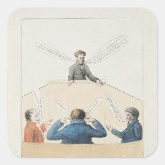 Reunión de la cámara de diputados pegatina cuadrada