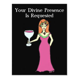 """Reunión de la diosa del vino invitación 4.25"""" x 5.5"""""""