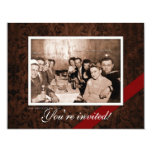 Reunión de la era del vintage WWII Invitación 10,8 X 13,9 Cm