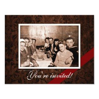 """Reunión de la era del vintage WWII Invitación 4.25"""" X 5.5"""""""