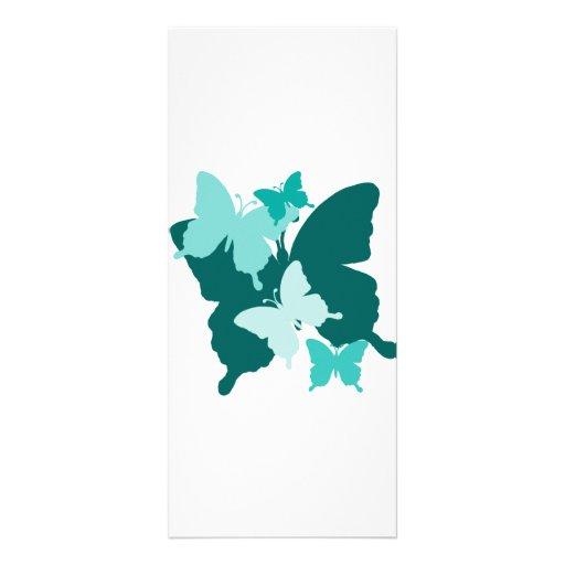 Reunión de la mariposa - tarjeta en blanco del est tarjeta publicitaria a todo color