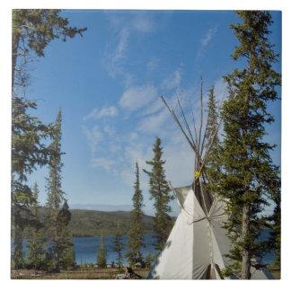 Reunión de la tribu de Dene, territorios del noroe Azulejo Cuadrado Grande